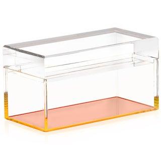 Alexandra Von Furstenberg Orange Lucite Box For Sale