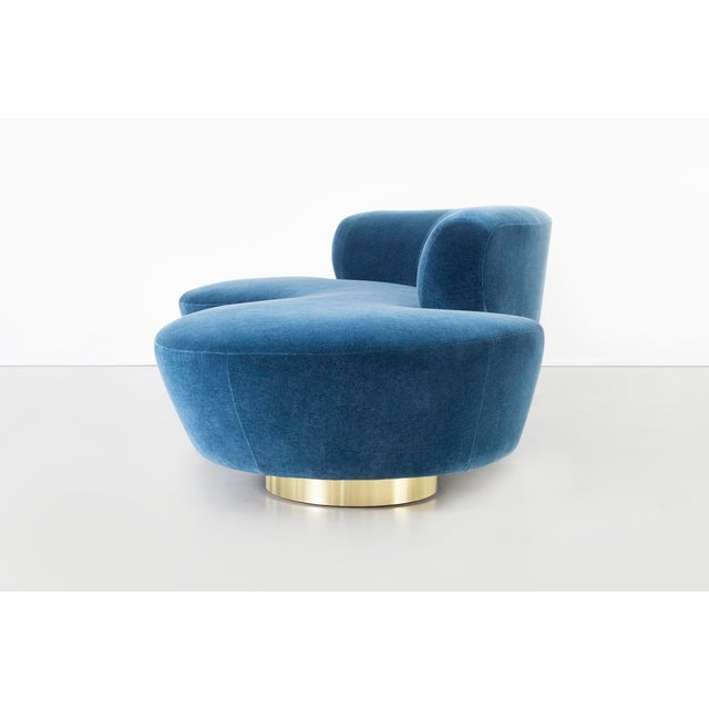 Set of Vladimir Kagan for Directional Cloud Sofas Newly Reupholstered in Mohair For Sale In Chicago - Image 6 of 12