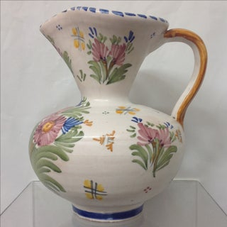 Antique Spanish Talavera Hand Painted Pitcher Preview