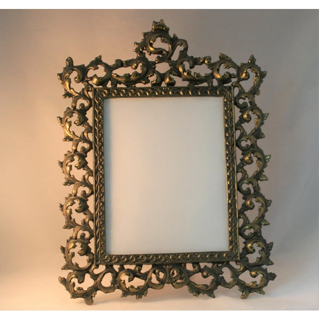 Vintage Brass Rococo Table Top Picture Frame - Image 2 of 6