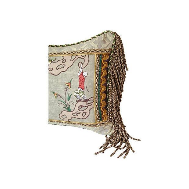 Italian Scalamandre Ping Chinoiserie Pillow - Image 2 of 4