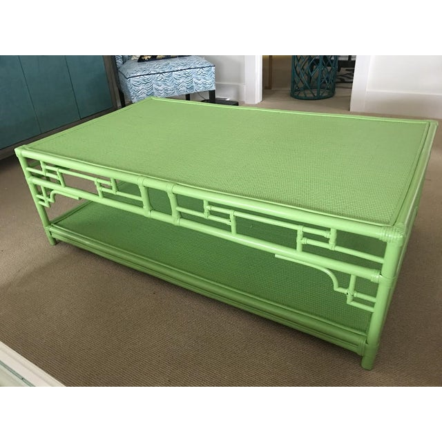 Lime Rattan Pagoda Coffee Table - Image 2 of 5