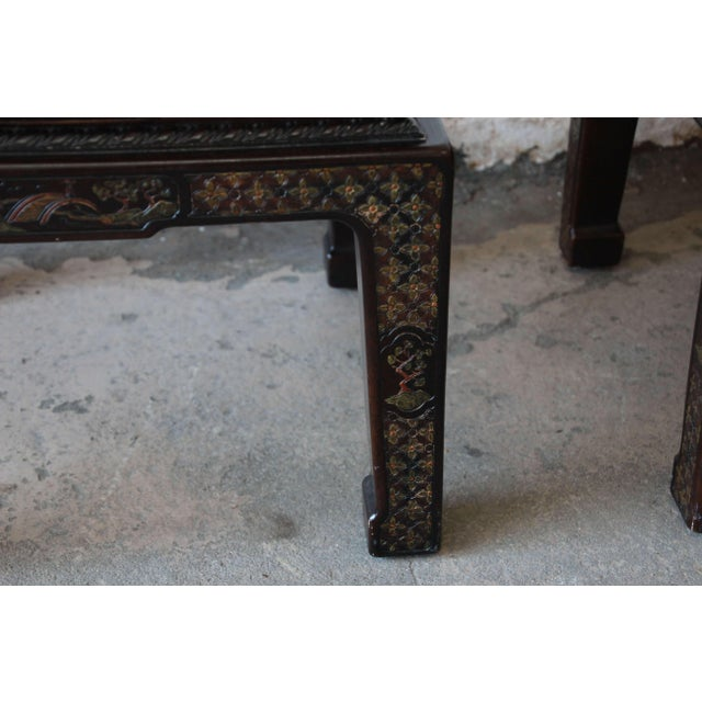 Brown John Widdicomb Asian Faux Tortoise Shell End Tables - a Pair For Sale - Image 8 of 11