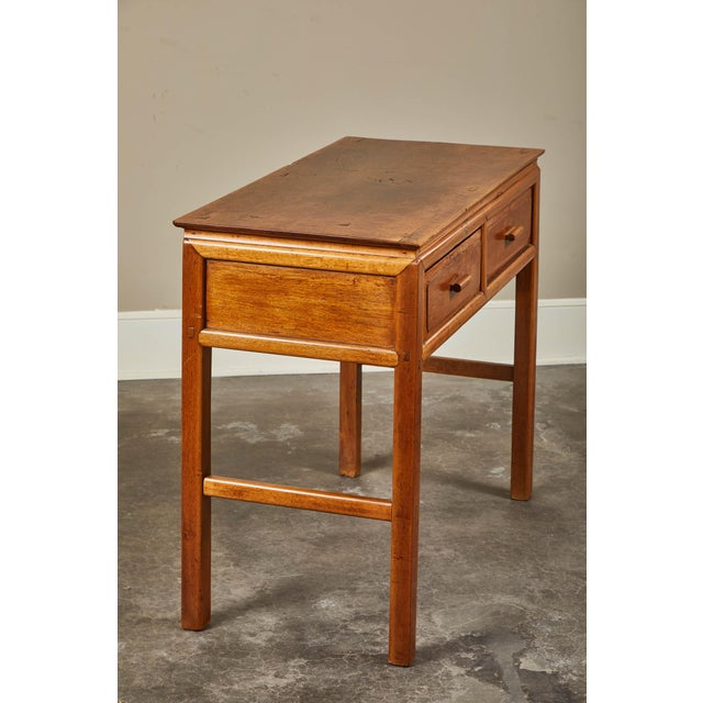 Asian Early 20th C. French Colonial Tigerwood Console For Sale - Image 3 of 10