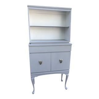 Vintage Gray Cabinet For Sale