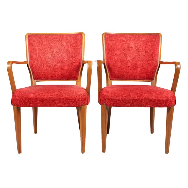 Mid-Century Modern Armchairs - A Pair - Image 1 of 3