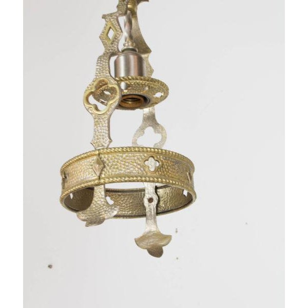 Small Brass and Nickel Hall Fixture For Sale In Boston - Image 6 of 9