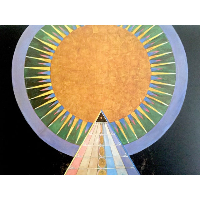 "Blue Hilma Af Klint Abstract Lithograph Print Moderna Museet Sweden Exhibition Poster "" Altarpiece No.1 Group X "" 1915 For Sale - Image 8 of 13"