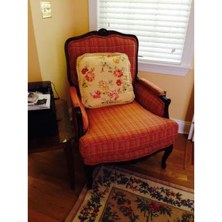 1960s Vintage Wood Frame Upholstered Chair Preview