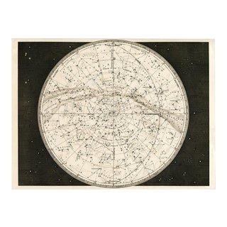Reproduction 19th Century Celestial Map For Sale