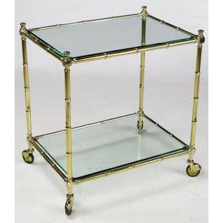 Italian Bamboo Form Brass Bar Cart Preview