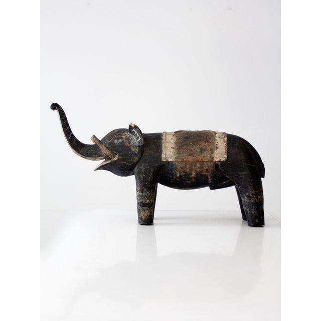 Antique Wooden Elephant For Sale - Image 10 of 10