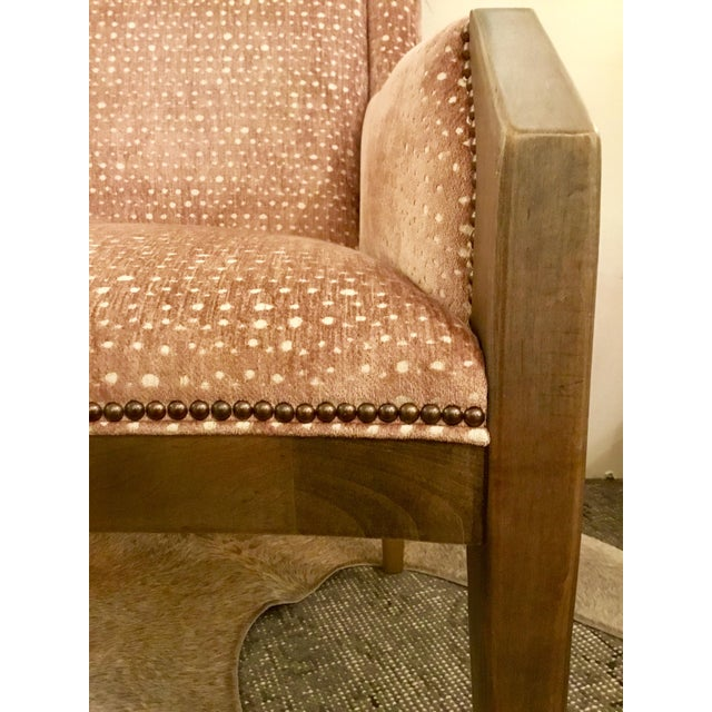 Pink Hickory Chair Co Tate Arm Chair For Sale - Image 8 of 9