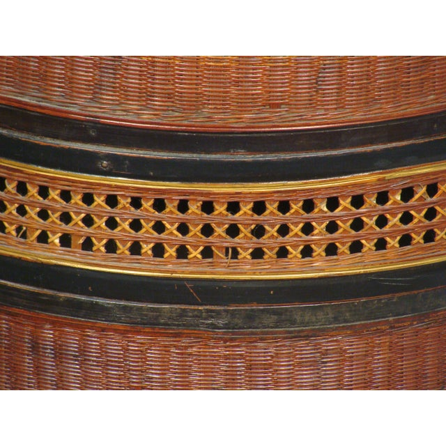 19th Century Chinese Bamboo Picnic Boxes- A Pair - Image 7 of 8