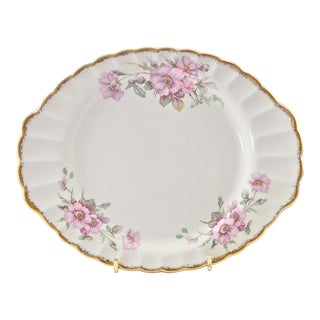 1930s Limoges 22k Gold Wild Rose Tray