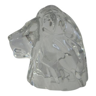 1980s Baccarat Crystal Lionne Figurine For Sale