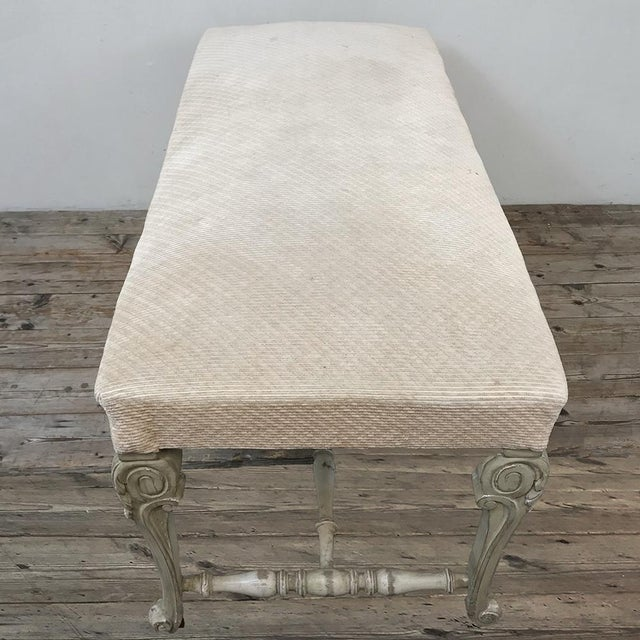 Antique French Louis XIV Painted Bench For Sale - Image 10 of 13