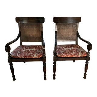 Baker Furniture/Milling Road Dining Arm Chairs - A Pair For Sale