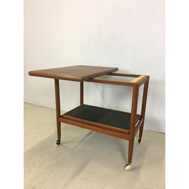 Ole Wanscher Teak Convertible Bar Cart and Server For Sale In Boston - Image 6 of 8