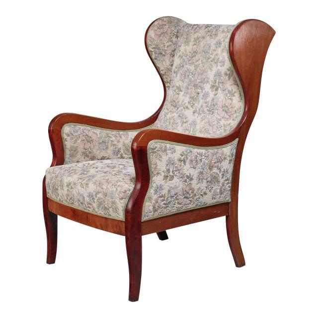 Frits Henningsen Wingback Lounge Chair, Denmark, 1940s For Sale
