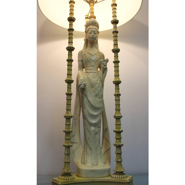 Mid 20th Century 1950s Quan Yin Table Lamp For Sale - Image 5 of 9