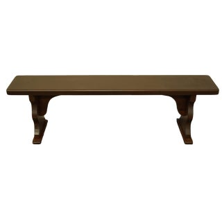 1990s Vintage Tom Seely Furniture Rustic Country Style Solid Pine Bench For Sale