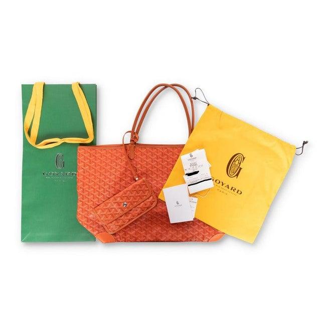 Goyard Orange St Louis Gm Chevron Tote Bag For Sale - Image 9 of 10