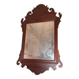 18th Century Chippendale Mahogany Mirror For Sale