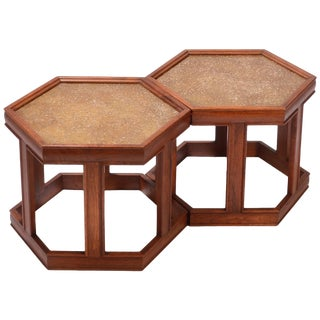 John Keal for Brown Saltman Hexagonal End Tables For Sale