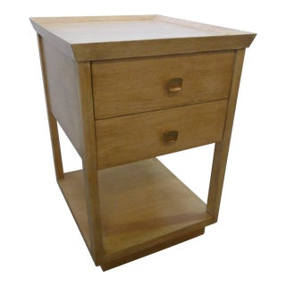 Paul Marra Two-Tier Nightstand in Rift Sawn Oak Natural Finish For Sale