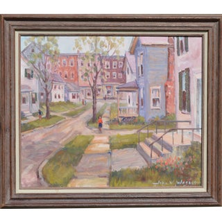 John W. Wagner Cityscape Oil Painting