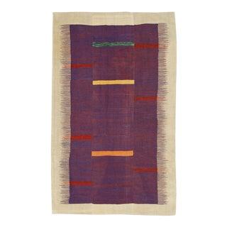 "Vintage Persian Flatweave Kilim Rug – Size: 5' 10"" X 9' 6"" For Sale"