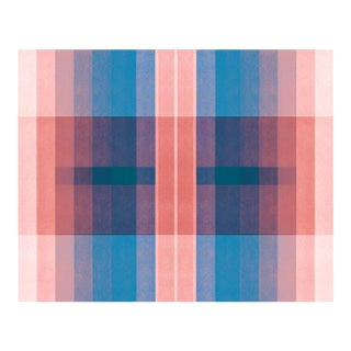 """Color Space Series 31: Peach & Cerulean"" Fine Art Print by Jessica Poundstone For Sale"