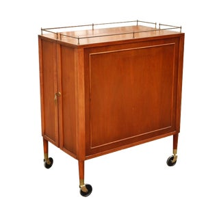 1950s Mid-Century Modern Henry P. Glass Mahogany Bar Cabinet For Sale