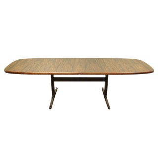 1960s Mid Century Modern Skovby Rosewood Dining Table With Two Leaves For Sale