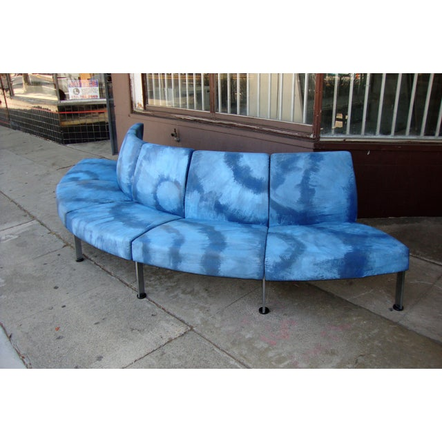 Modern Semi Round Sofa For Sale In Los Angeles - Image 6 of 13