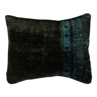 Vintage Luxury Wool Green Sofa Pillow For Sale
