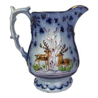 English Luster Stag Pitcher by Sunderland For Sale