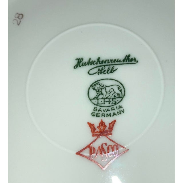 Vintage Hutschenreuther Brighton & Pasco Porcelain Bread & Butter Plates - Set of 12 For Sale - Image 11 of 13