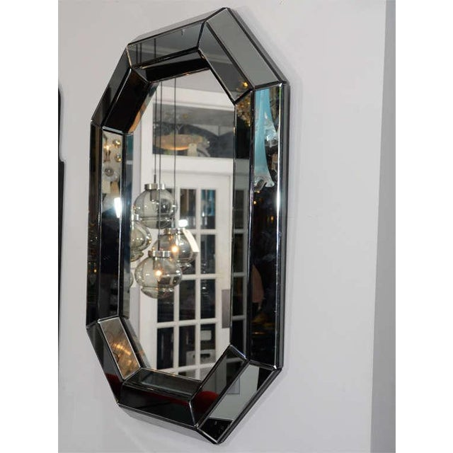 Glass Custom Smoked Glass Mirror For Sale - Image 7 of 8