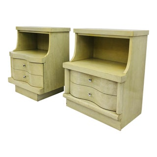 Pair Vintage Mid Century Side Tables For Sale