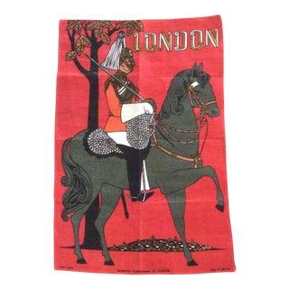 Mid-Century London Irish Linen Textile Sourvenir For Sale