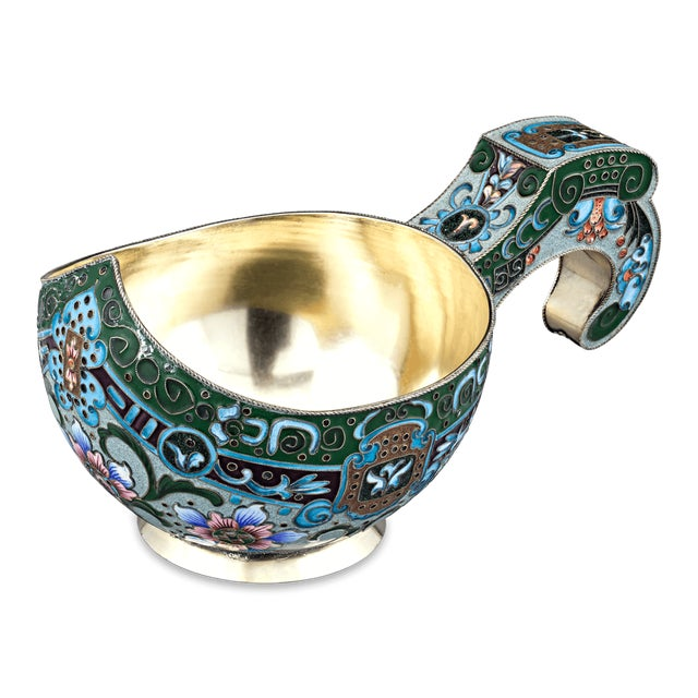 Russian Enamel Kovsh - Image 5 of 6