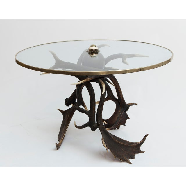 19th Century Lodge Antler Based Side Table For Sale - Image 13 of 13