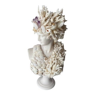 Contemporary Medium Shell Encrusted Diana Bust For Sale