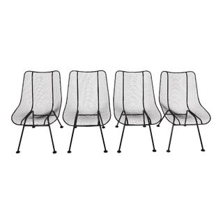 "Russell Woodard ""Sculptura"" Linai Black Side Chairs - Set of 4 For Sale"