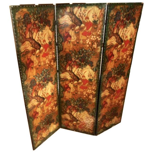 Antique European Folding Screen For Sale
