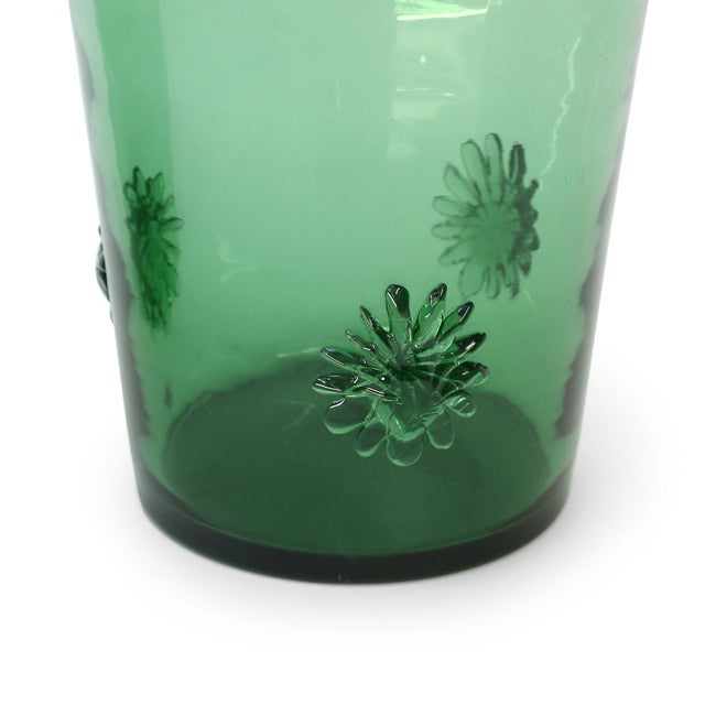 Italian green glass vase by Empoli, circa 1960. Last two images are entire collection of Empoli (items 440-445 and 447-448).