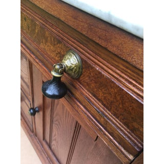 1800s Cottage Walnut and Hickory With Italian Marble Top Wash Stand Preview