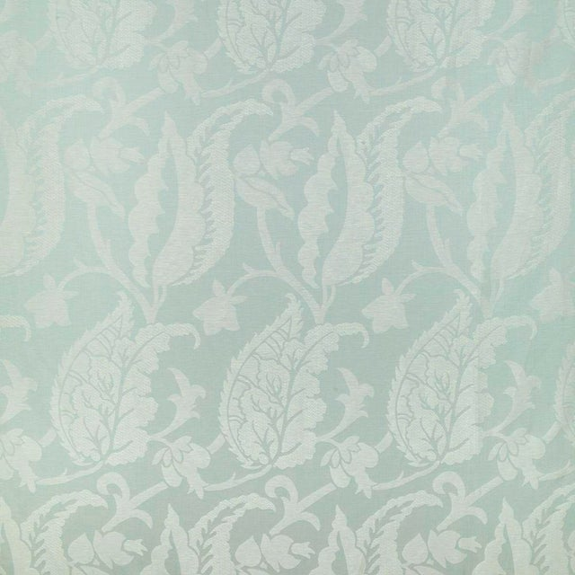 Contemporary Suzanne Tucker Home Jacqueline Linen Blend Jacquard in Celadon For Sale - Image 3 of 3